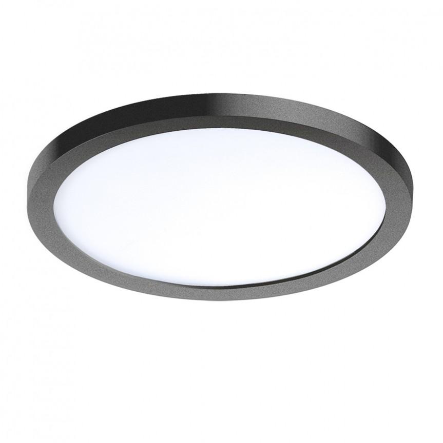 Spot LED pentru baie incastrat IP44 Slim 15 round 4000K negru, Spoturi incastrate - tavan fals / perete, Corpuri de iluminat, lustre, aplice, veioze, lampadare, plafoniere. Mobilier si decoratiuni, oglinzi, scaune, fotolii. Oferte speciale iluminat interior si exterior. Livram in toata tara.  a