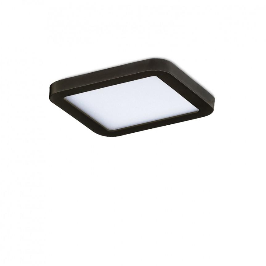 Spot LED pentru baie incastrat IP44 Slim 9 square 3000K negru, Spoturi incastrate - tavan fals / perete, Corpuri de iluminat, lustre, aplice, veioze, lampadare, plafoniere. Mobilier si decoratiuni, oglinzi, scaune, fotolii. Oferte speciale iluminat interior si exterior. Livram in toata tara.  a