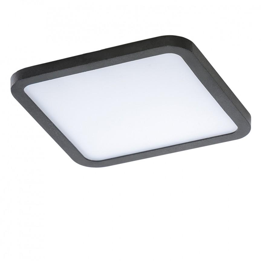 Spot LED pentru baie incastrat IP44 Slim 15 square 3000K negru, Spoturi incastrate - tavan fals / perete, Corpuri de iluminat, lustre, aplice, veioze, lampadare, plafoniere. Mobilier si decoratiuni, oglinzi, scaune, fotolii. Oferte speciale iluminat interior si exterior. Livram in toata tara.  a