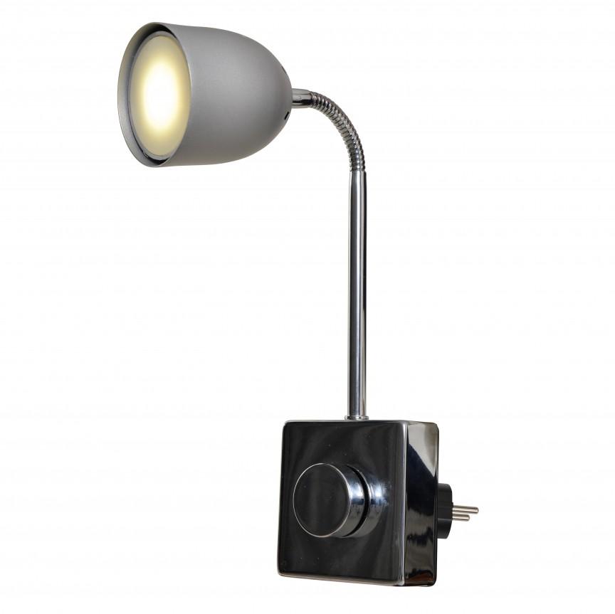 Lampa pentru priza cu spot LED dimabil Plugy 4070060 NV, Spoturi - iluminat - cu 1 spot, Corpuri de iluminat, lustre, aplice, veioze, lampadare, plafoniere. Mobilier si decoratiuni, oglinzi, scaune, fotolii. Oferte speciale iluminat interior si exterior. Livram in toata tara.  a