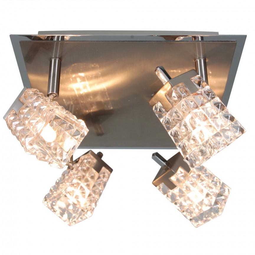 Plafoniera cu 4 spoturi Loreley 1010150 NV, Spoturi - iluminat - cu 4 spoturi, Corpuri de iluminat, lustre, aplice, veioze, lampadare, plafoniere. Mobilier si decoratiuni, oglinzi, scaune, fotolii. Oferte speciale iluminat interior si exterior. Livram in toata tara.  a