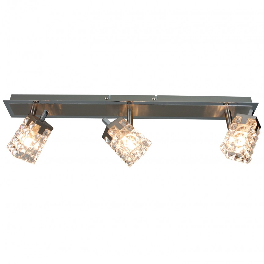 Plafoniera cu 3 spoturi Loreley 1010350 NV, Spoturi - iluminat - cu 3 spoturi, Corpuri de iluminat, lustre, aplice, veioze, lampadare, plafoniere. Mobilier si decoratiuni, oglinzi, scaune, fotolii. Oferte speciale iluminat interior si exterior. Livram in toata tara.  a