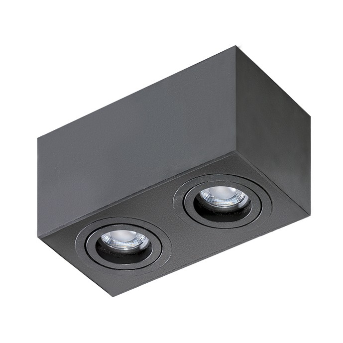 Spot aplicat tavan/plafon stil modern Brant 2 SQUARE negru, Spoturi aplicate - tavan / perete, Corpuri de iluminat, lustre, aplice, veioze, lampadare, plafoniere. Mobilier si decoratiuni, oglinzi, scaune, fotolii. Oferte speciale iluminat interior si exterior. Livram in toata tara.  a