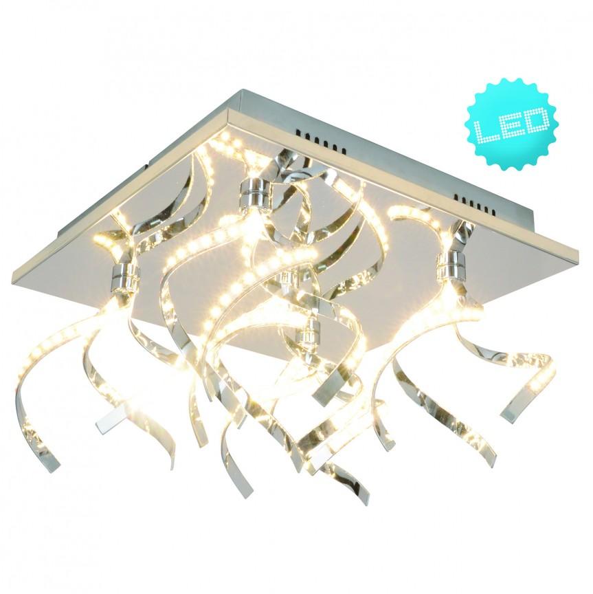 Plafoniera LED Kristallo, 31x31cm 1252442 NV, Plafoniere moderne, Corpuri de iluminat, lustre, aplice, veioze, lampadare, plafoniere. Mobilier si decoratiuni, oglinzi, scaune, fotolii. Oferte speciale iluminat interior si exterior. Livram in toata tara.  a