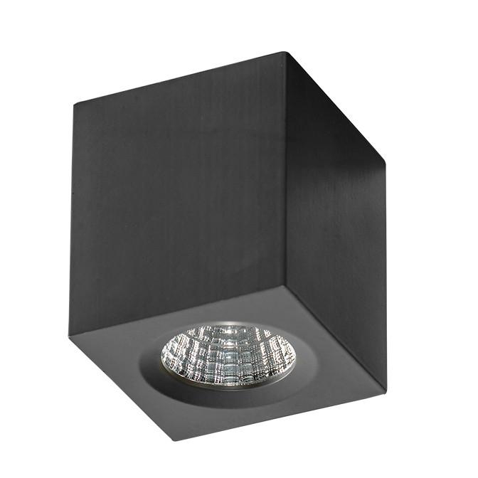 Mini Spot LED aplicat tavan/plafon NANO SQUARE negru, Spoturi LED incastrate, aplicate, Corpuri de iluminat, lustre, aplice, veioze, lampadare, plafoniere. Mobilier si decoratiuni, oglinzi, scaune, fotolii. Oferte speciale iluminat interior si exterior. Livram in toata tara.  a