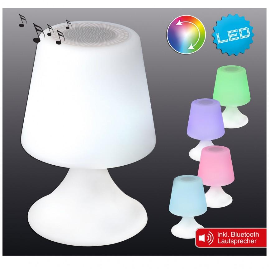Corp iluminat decorativ de exterior cu protectie IP44, LED RGB si Bluetooth 5163961 NV, Lampi de exterior portabile , Corpuri de iluminat, lustre, aplice, veioze, lampadare, plafoniere. Mobilier si decoratiuni, oglinzi, scaune, fotolii. Oferte speciale iluminat interior si exterior. Livram in toata tara.  a