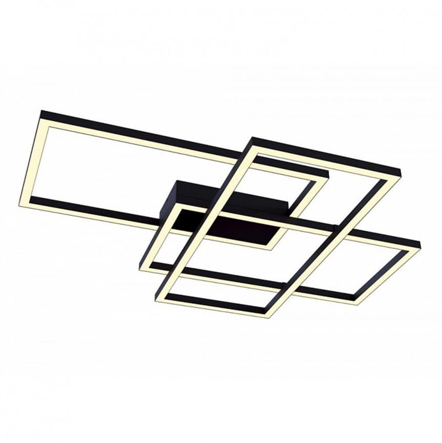 Lustra LED aplicata design modern Line neagra MYMOD015CL-L80B , Plafoniere moderne, Corpuri de iluminat, lustre, aplice, veioze, lampadare, plafoniere. Mobilier si decoratiuni, oglinzi, scaune, fotolii. Oferte speciale iluminat interior si exterior. Livram in toata tara.  a