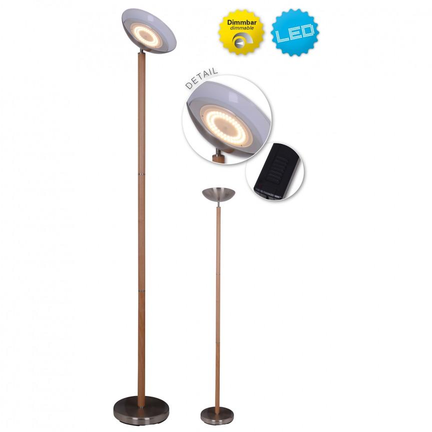 Lampadar LED dimabil, cu baza din lemn de fag, Matilda 2094914 NV, ILUMINAT INTERIOR LED , Corpuri de iluminat, lustre, aplice, veioze, lampadare, plafoniere. Mobilier si decoratiuni, oglinzi, scaune, fotolii. Oferte speciale iluminat interior si exterior. Livram in toata tara.  a