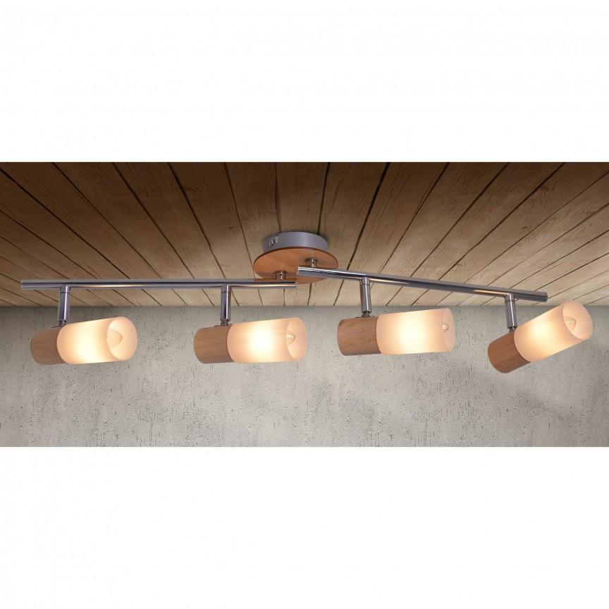 Lustra cu 4 spoturi Todtnau 1283323 NV, Spoturi - iluminat - cu 4 spoturi, Corpuri de iluminat, lustre, aplice, veioze, lampadare, plafoniere. Mobilier si decoratiuni, oglinzi, scaune, fotolii. Oferte speciale iluminat interior si exterior. Livram in toata tara.  a