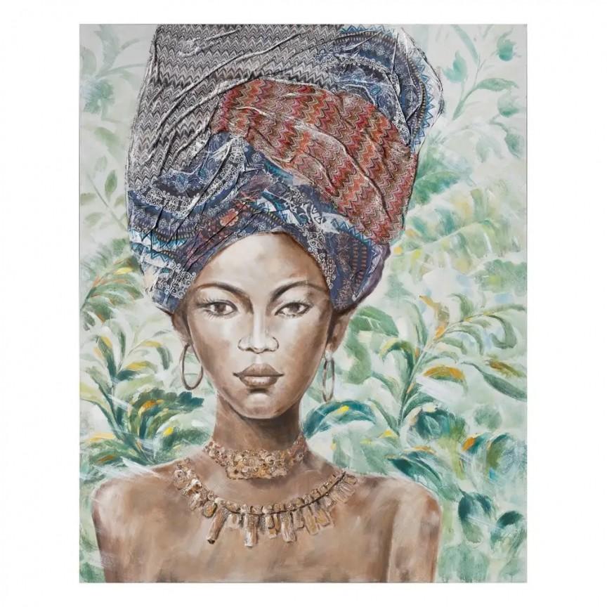 Tablou decorativ, pictura pe panza Africana, 120x150cm SX-108068, Tablouri decorative, Corpuri de iluminat, lustre, aplice, veioze, lampadare, plafoniere. Mobilier si decoratiuni, oglinzi, scaune, fotolii. Oferte speciale iluminat interior si exterior. Livram in toata tara.  a