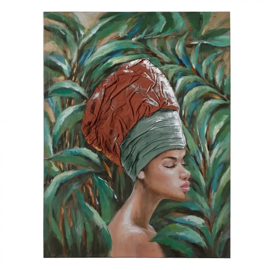 Tablou decorativ, pictura pe panza Africana, 76x100cm SX-108345, Tablouri decorative, Corpuri de iluminat, lustre, aplice, veioze, lampadare, plafoniere. Mobilier si decoratiuni, oglinzi, scaune, fotolii. Oferte speciale iluminat interior si exterior. Livram in toata tara.  a