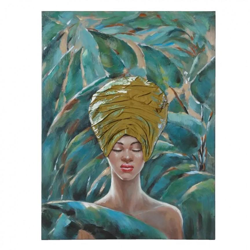 Tablou decorativ, pictura pe panza Africana, 76x100cm SX-108346, Tablouri decorative, Corpuri de iluminat, lustre, aplice, veioze, lampadare, plafoniere. Mobilier si decoratiuni, oglinzi, scaune, fotolii. Oferte speciale iluminat interior si exterior. Livram in toata tara.  a