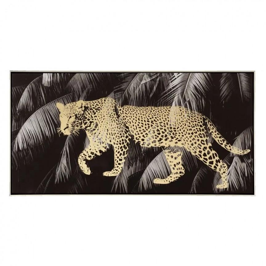 Tablou decorativ Leopardo, 120x80cm SX-108140, Tablouri decorative, Corpuri de iluminat, lustre, aplice, veioze, lampadare, plafoniere. Mobilier si decoratiuni, oglinzi, scaune, fotolii. Oferte speciale iluminat interior si exterior. Livram in toata tara.  a