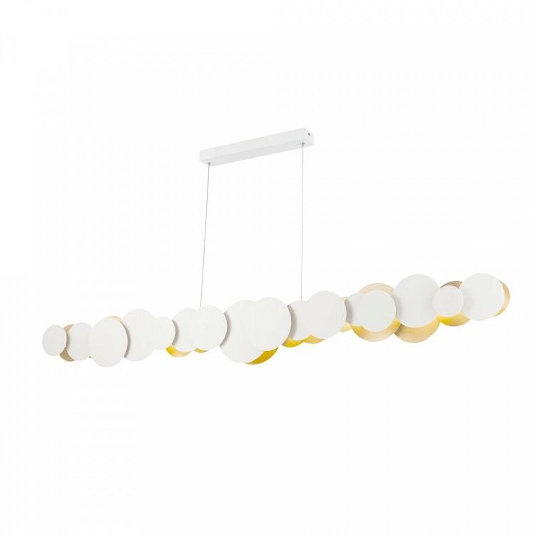 Lustra LED design modern decorativ Cloud 54W alb/auriu MYMOD003PL-L54WG, Lustre LED, Pendule LED, Corpuri de iluminat, lustre, aplice, veioze, lampadare, plafoniere. Mobilier si decoratiuni, oglinzi, scaune, fotolii. Oferte speciale iluminat interior si exterior. Livram in toata tara.  a