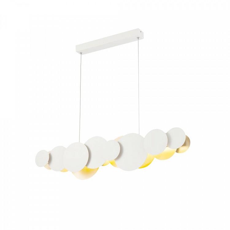 Lustra LED design modern decorativ Cloud 27W alb/auriu MYMOD003PL-L27WG, Lustre LED, Pendule LED, Corpuri de iluminat, lustre, aplice, veioze, lampadare, plafoniere. Mobilier si decoratiuni, oglinzi, scaune, fotolii. Oferte speciale iluminat interior si exterior. Livram in toata tara.  a