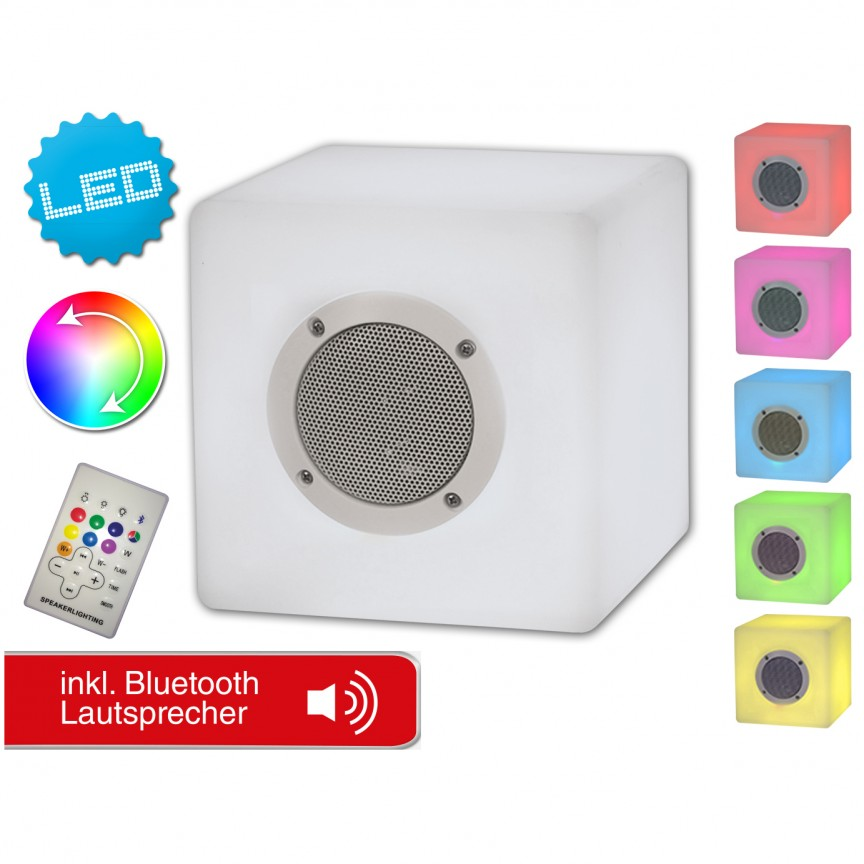 Corp iluminat decorativ de exterior cu protectie IP44, LED RGB si Bluetooth 5162961 NV, Iluminat design decorativ , Corpuri de iluminat, lustre, aplice, veioze, lampadare, plafoniere. Mobilier si decoratiuni, oglinzi, scaune, fotolii. Oferte speciale iluminat interior si exterior. Livram in toata tara.  a