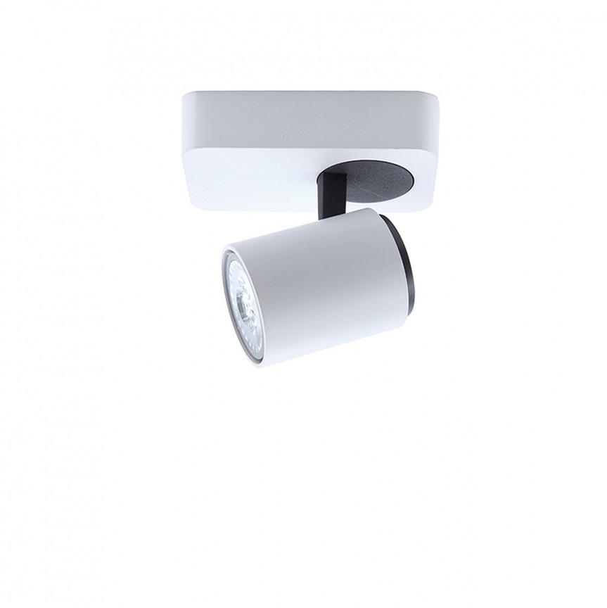 Aplica de perete / tavan cu 1 spot directionabil Turn SV-372095, Spoturi aplicate - tavan / perete, Corpuri de iluminat, lustre, aplice, veioze, lampadare, plafoniere. Mobilier si decoratiuni, oglinzi, scaune, fotolii. Oferte speciale iluminat interior si exterior. Livram in toata tara.  a