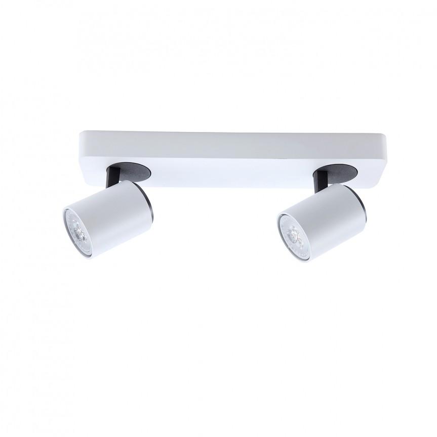 Aplica de perete / tavan cu 2 spoturi directionabile Turn SV-372284, Spoturi - iluminat - cu 2 spoturi, Corpuri de iluminat, lustre, aplice, veioze, lampadare, plafoniere. Mobilier si decoratiuni, oglinzi, scaune, fotolii. Oferte speciale iluminat interior si exterior. Livram in toata tara.  a