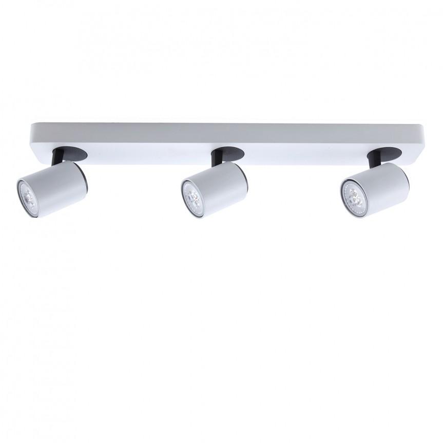 Plafoniera cu 3 spoturi directionabile Turn SV-372361, Spoturi - iluminat - cu 3 spoturi, Corpuri de iluminat, lustre, aplice, veioze, lampadare, plafoniere. Mobilier si decoratiuni, oglinzi, scaune, fotolii. Oferte speciale iluminat interior si exterior. Livram in toata tara.  a