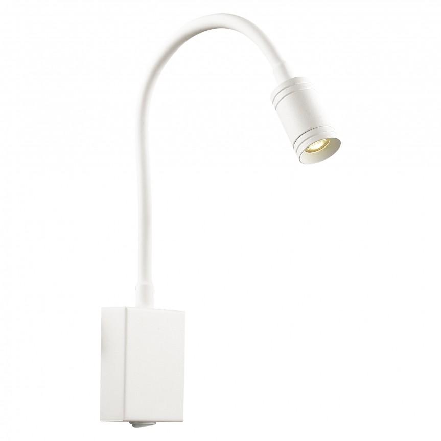 Aplica cu reader LED directionabil design modern minimalist MURUM alba, Spoturi - iluminat - cu 1 spot, Corpuri de iluminat, lustre, aplice, veioze, lampadare, plafoniere. Mobilier si decoratiuni, oglinzi, scaune, fotolii. Oferte speciale iluminat interior si exterior. Livram in toata tara.  a