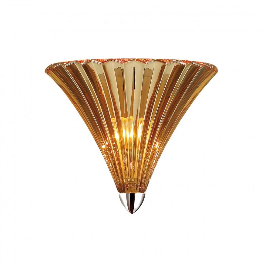 Aplica clasica design elegant Iris, chihlimbar 1697-1W FV, Magazin, Corpuri de iluminat, lustre, aplice, veioze, lampadare, plafoniere. Mobilier si decoratiuni, oglinzi, scaune, fotolii. Oferte speciale iluminat interior si exterior. Livram in toata tara.  a