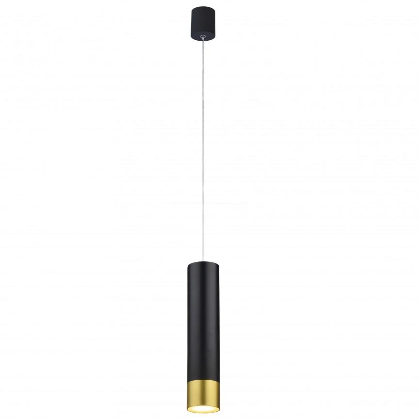 Pendul LED design modern minimalist PENDENTI negru/auriu, Lustre LED, Pendule LED, Corpuri de iluminat, lustre, aplice, veioze, lampadare, plafoniere. Mobilier si decoratiuni, oglinzi, scaune, fotolii. Oferte speciale iluminat interior si exterior. Livram in toata tara.  a