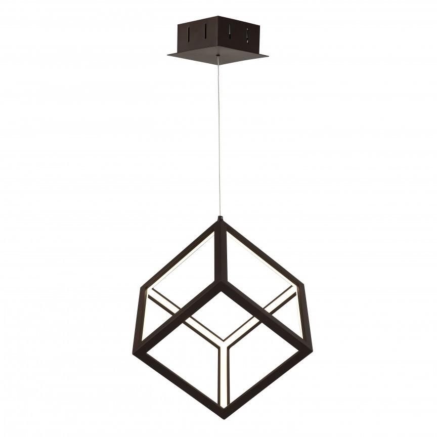 Lustra LED design modern CUBUS neagra, Lustre LED, Pendule LED, Corpuri de iluminat, lustre, aplice, veioze, lampadare, plafoniere. Mobilier si decoratiuni, oglinzi, scaune, fotolii. Oferte speciale iluminat interior si exterior. Livram in toata tara.  a