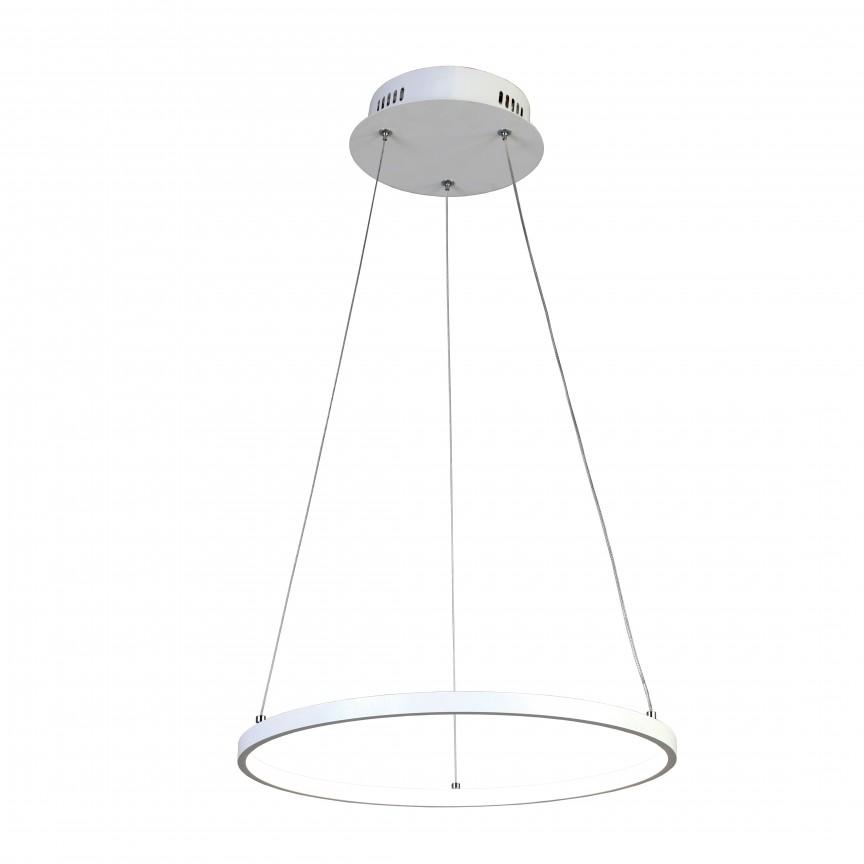 Lustra LED design modern Ø40cm GIRO alba, Promotii si Reduceri⭐ Oferte ✅Corpuri de iluminat ✅Lustre ✅Mobila ✅Decoratiuni de interior si exterior.⭕Pret redus online➜Lichidari de stoc❗ Magazin ➽ www.evalight.ro. a