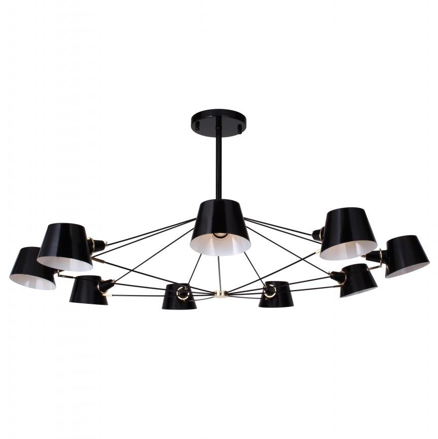 Candelabru modern design deosebit EIMER 9L neagra, Lustre moderne aplicate, Corpuri de iluminat, lustre, aplice, veioze, lampadare, plafoniere. Mobilier si decoratiuni, oglinzi, scaune, fotolii. Oferte speciale iluminat interior si exterior. Livram in toata tara.  a