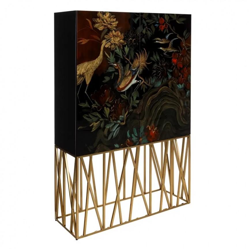 Dulap elegant design Shabby Chic NEGRO-ORO DZ-105518, Dulapuri - Comode, Corpuri de iluminat, lustre, aplice, veioze, lampadare, plafoniere. Mobilier si decoratiuni, oglinzi, scaune, fotolii. Oferte speciale iluminat interior si exterior. Livram in toata tara.  a