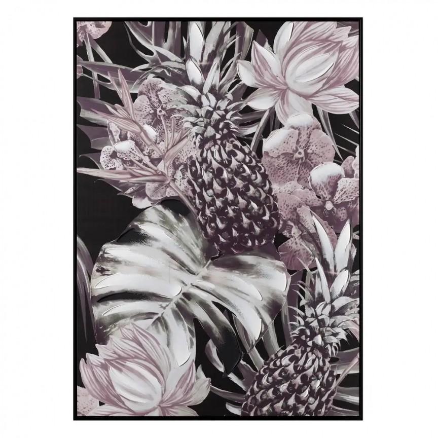 Tablou decorativ, pictura pe panza Ananas negru-roz, 100x140cm SX-108319, Tablouri decorative, Corpuri de iluminat, lustre, aplice, veioze, lampadare, plafoniere. Mobilier si decoratiuni, oglinzi, scaune, fotolii. Oferte speciale iluminat interior si exterior. Livram in toata tara.  a