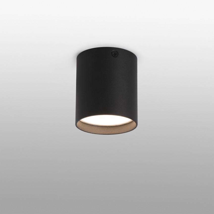 Spot LED aplicat plafon design modern HARU negru, Spoturi aplicate - tavan / perete, Corpuri de iluminat, lustre, aplice, veioze, lampadare, plafoniere. Mobilier si decoratiuni, oglinzi, scaune, fotolii. Oferte speciale iluminat interior si exterior. Livram in toata tara.  a