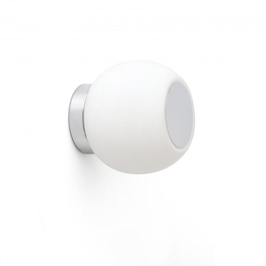 Aplica LED perete/tavan pentru baie IP44 MOY crom, Aplice pentru baie, oglinda, tablou, Corpuri de iluminat, lustre, aplice, veioze, lampadare, plafoniere. Mobilier si decoratiuni, oglinzi, scaune, fotolii. Oferte speciale iluminat interior si exterior. Livram in toata tara.  a