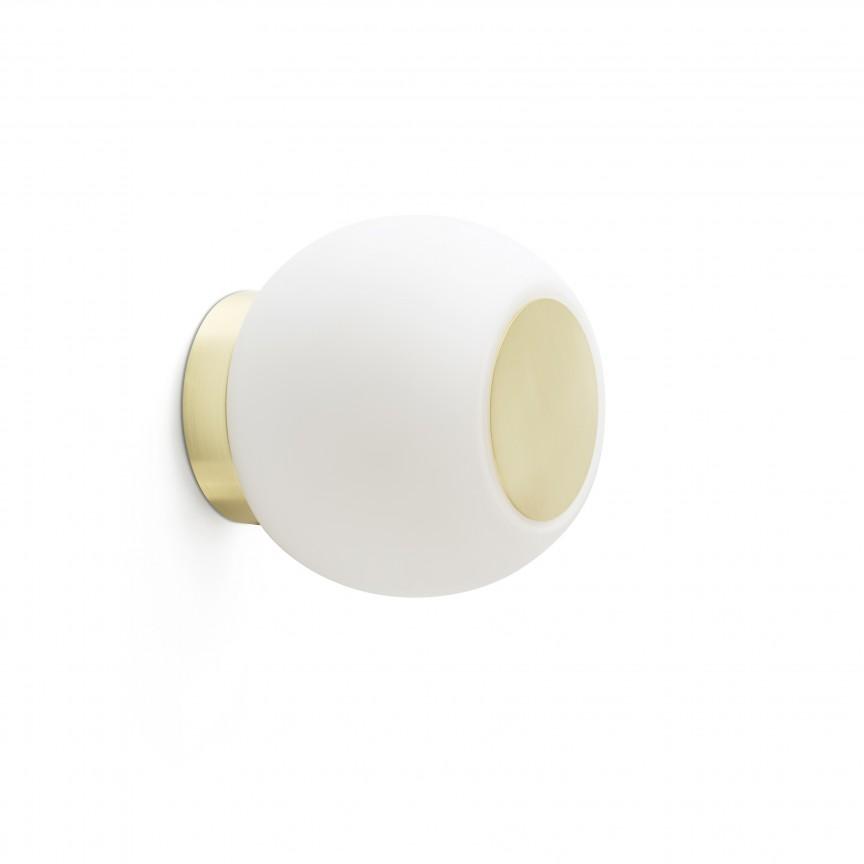 Aplica LED perete/tavan pentru baie IP44 MOY aurie, Aplice pentru baie, oglinda, tablou, Corpuri de iluminat, lustre, aplice, veioze, lampadare, plafoniere. Mobilier si decoratiuni, oglinzi, scaune, fotolii. Oferte speciale iluminat interior si exterior. Livram in toata tara.  a