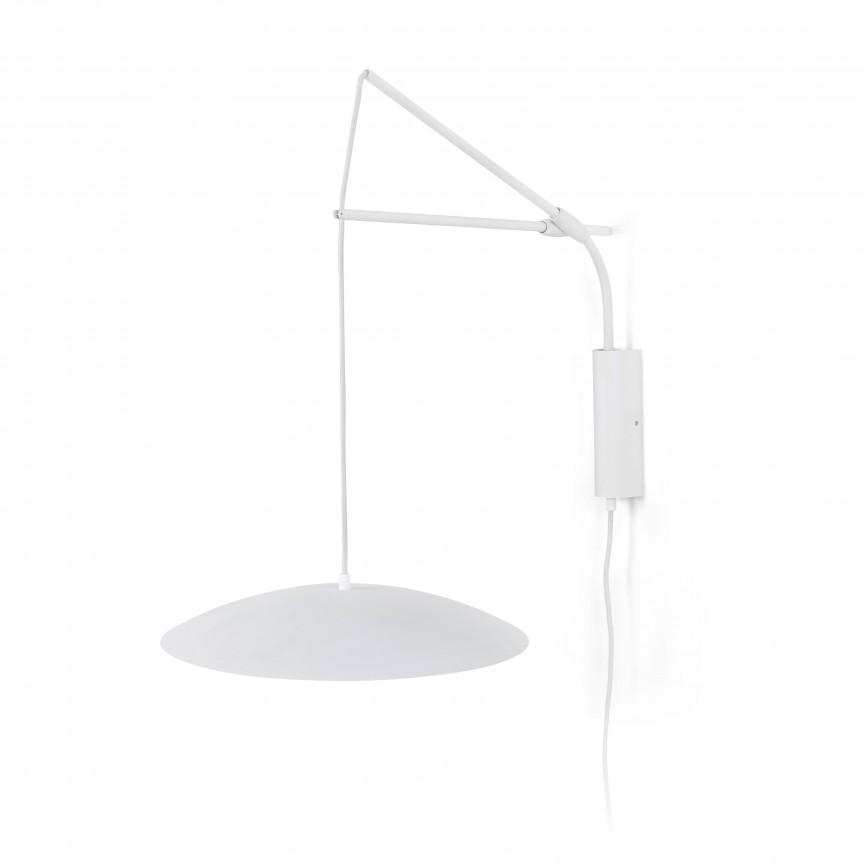 Aplica LED cu pendul extensibil design modern SLIM alb, Aplice de perete LED, Corpuri de iluminat, lustre, aplice, veioze, lampadare, plafoniere. Mobilier si decoratiuni, oglinzi, scaune, fotolii. Oferte speciale iluminat interior si exterior. Livram in toata tara.  a