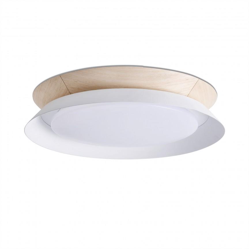 Lustra / Plafoniera LED design modern Ø45cm TENDER alba, Plafoniere moderne, Corpuri de iluminat, lustre, aplice, veioze, lampadare, plafoniere. Mobilier si decoratiuni, oglinzi, scaune, fotolii. Oferte speciale iluminat interior si exterior. Livram in toata tara.  a
