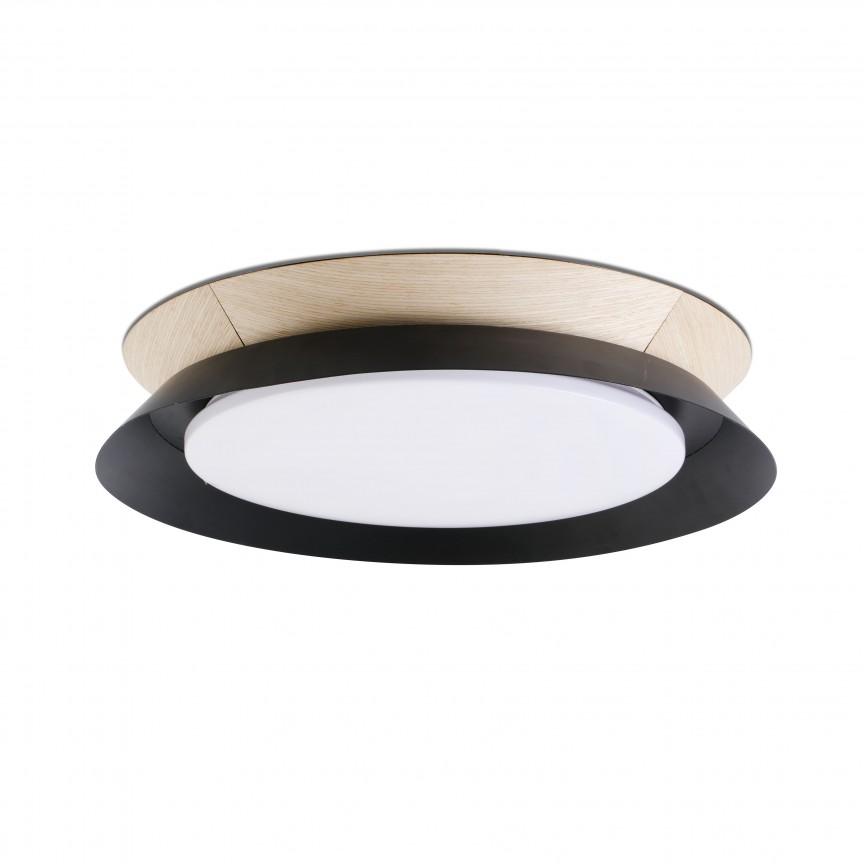 Lustra / Plafoniera LED design modern Ø45cm TENDER neagra, Plafoniere moderne, Corpuri de iluminat, lustre, aplice, veioze, lampadare, plafoniere. Mobilier si decoratiuni, oglinzi, scaune, fotolii. Oferte speciale iluminat interior si exterior. Livram in toata tara.  a