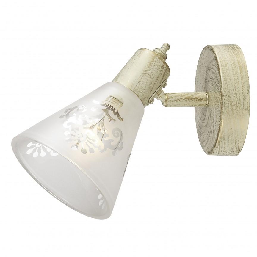 Aplica cu spot design clasic Gumbata 1794-1W FV, Spoturi - iluminat - cu 1 spot, Corpuri de iluminat, lustre, aplice, veioze, lampadare, plafoniere. Mobilier si decoratiuni, oglinzi, scaune, fotolii. Oferte speciale iluminat interior si exterior. Livram in toata tara.  a
