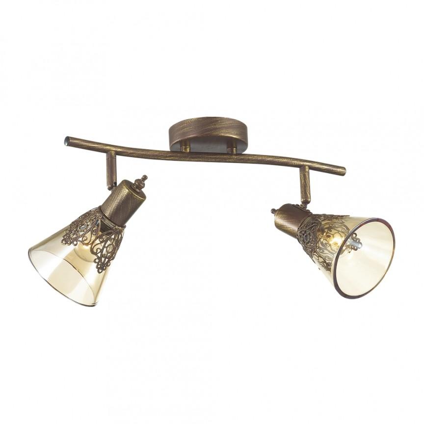 Plafoniera cu 2 spoturi design clasic Gumbata, maro 1795-2U FV, Spoturi - iluminat - cu 2 spoturi, Corpuri de iluminat, lustre, aplice, veioze, lampadare, plafoniere. Mobilier si decoratiuni, oglinzi, scaune, fotolii. Oferte speciale iluminat interior si exterior. Livram in toata tara.  a