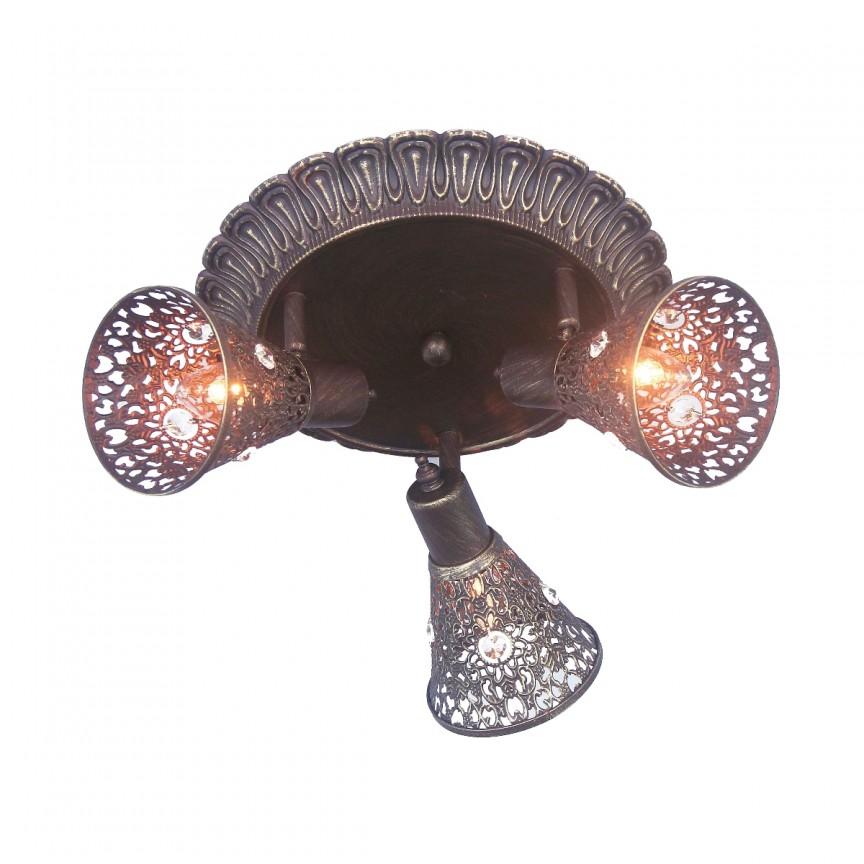 Plafoniera cu 3 spoturi design oriental Arabian Drim, maro 1797-3U FV, Spoturi - iluminat - cu 3 spoturi, Corpuri de iluminat, lustre, aplice, veioze, lampadare, plafoniere. Mobilier si decoratiuni, oglinzi, scaune, fotolii. Oferte speciale iluminat interior si exterior. Livram in toata tara.  a