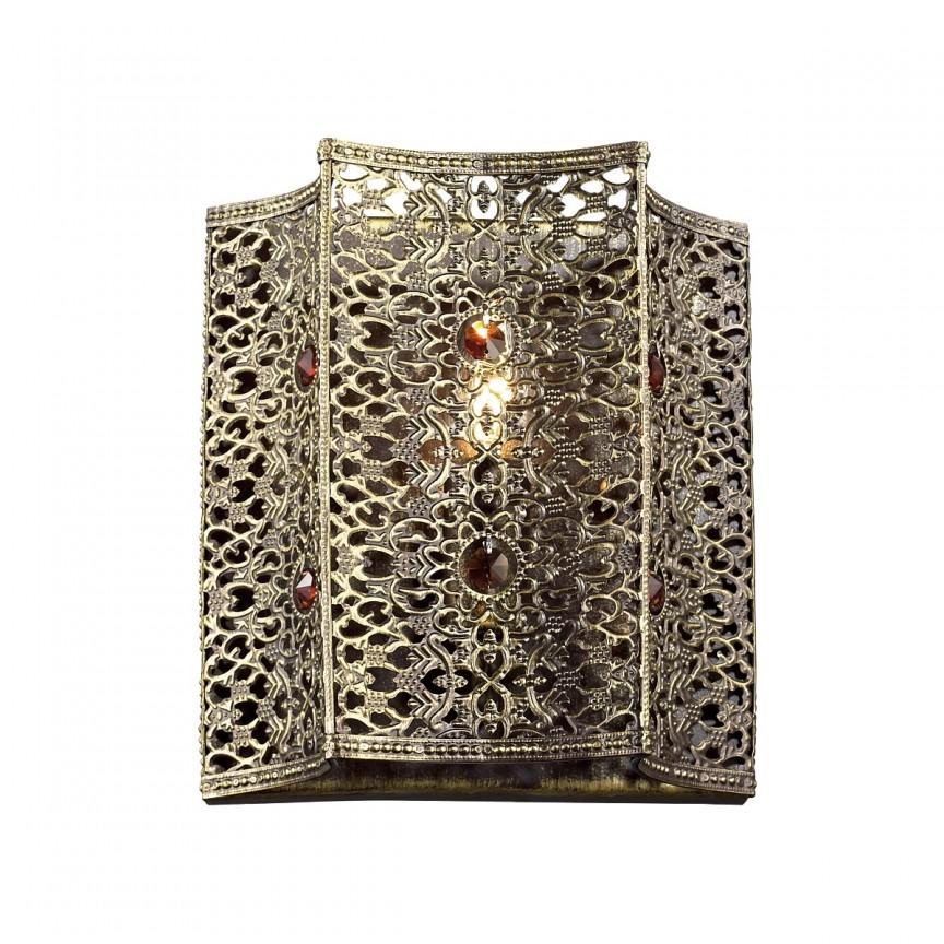 Aplica in stil oriental Bazar 1624-1W FV, PROMOTII, Corpuri de iluminat, lustre, aplice, veioze, lampadare, plafoniere. Mobilier si decoratiuni, oglinzi, scaune, fotolii. Oferte speciale iluminat interior si exterior. Livram in toata tara.  a