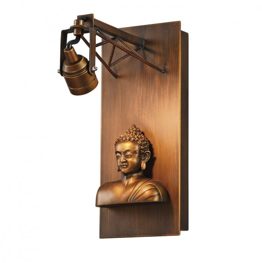 Aplica cu spot LED design Art Deco EXPOSITION Buddha, ILUMINAT INTERIOR RUSTIC, Corpuri de iluminat, lustre, aplice, veioze, lampadare, plafoniere. Mobilier si decoratiuni, oglinzi, scaune, fotolii. Oferte speciale iluminat interior si exterior. Livram in toata tara.  a