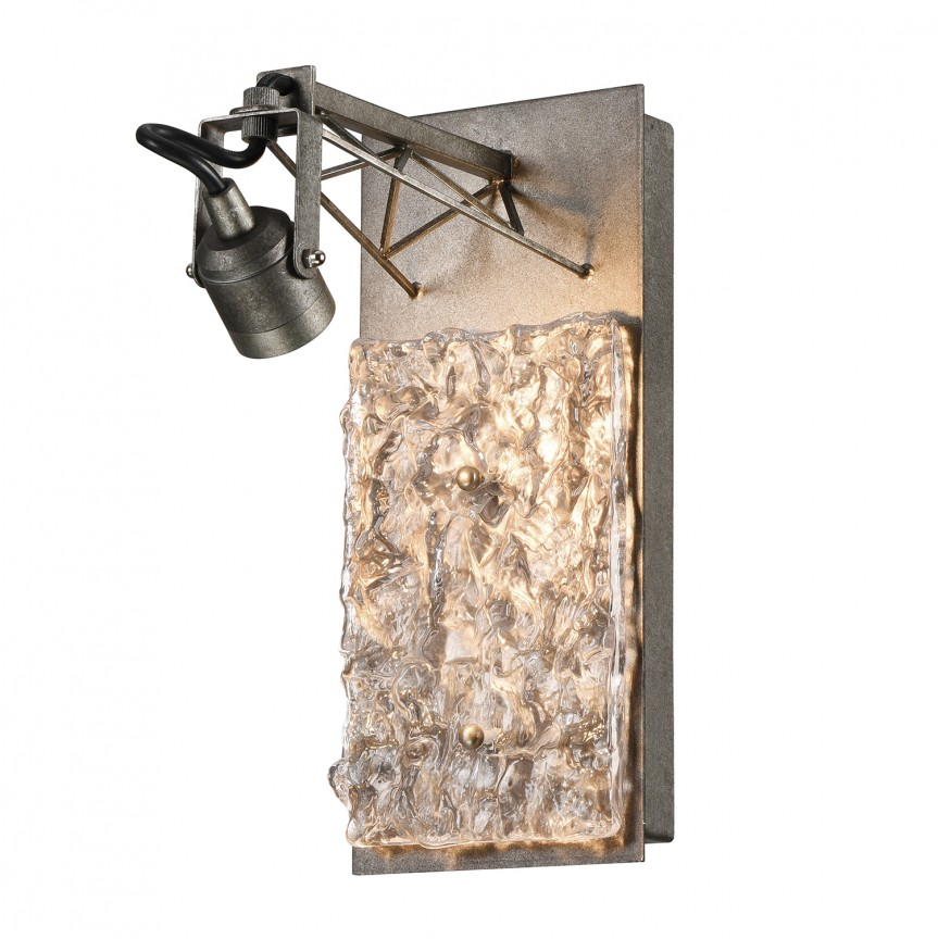 Aplica cu spot LED design Art Deco EXPOSITION Murano, ILUMINAT INTERIOR RUSTIC, Corpuri de iluminat, lustre, aplice, veioze, lampadare, plafoniere. Mobilier si decoratiuni, oglinzi, scaune, fotolii. Oferte speciale iluminat interior si exterior. Livram in toata tara.  a