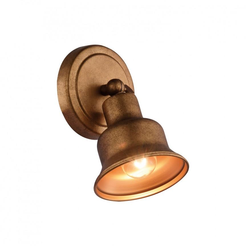 Aplica cu spot design vintage Clochette 2024-1W FV, Spoturi - iluminat - cu 1 spot, Corpuri de iluminat, lustre, aplice, veioze, lampadare, plafoniere. Mobilier si decoratiuni, oglinzi, scaune, fotolii. Oferte speciale iluminat interior si exterior. Livram in toata tara.  a