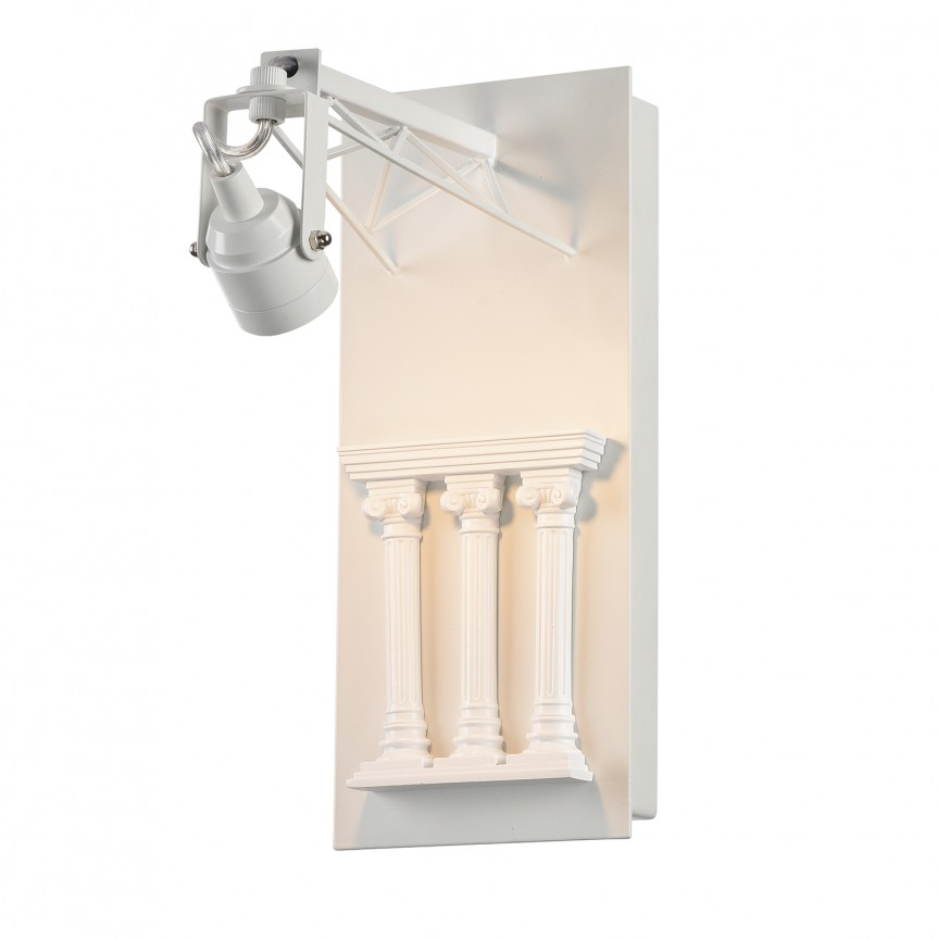 Aplica cu spot LED design Art Deco EXPOSITION Colosseum alb, ILUMINAT INTERIOR RUSTIC, Corpuri de iluminat, lustre, aplice, veioze, lampadare, plafoniere. Mobilier si decoratiuni, oglinzi, scaune, fotolii. Oferte speciale iluminat interior si exterior. Livram in toata tara.  a