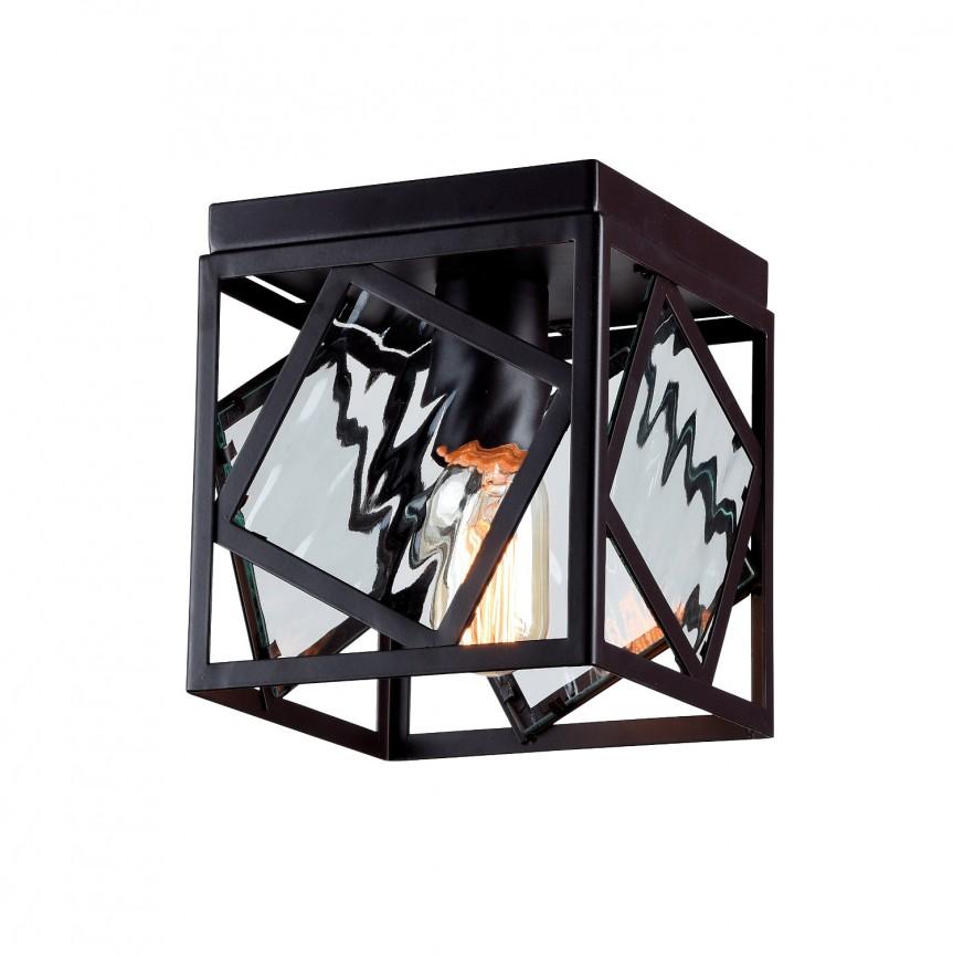 Lustra aplicata deosebita design loft Brook 1785-1U FV, Plafoniere moderne, Corpuri de iluminat, lustre, aplice, veioze, lampadare, plafoniere. Mobilier si decoratiuni, oglinzi, scaune, fotolii. Oferte speciale iluminat interior si exterior. Livram in toata tara.  a
