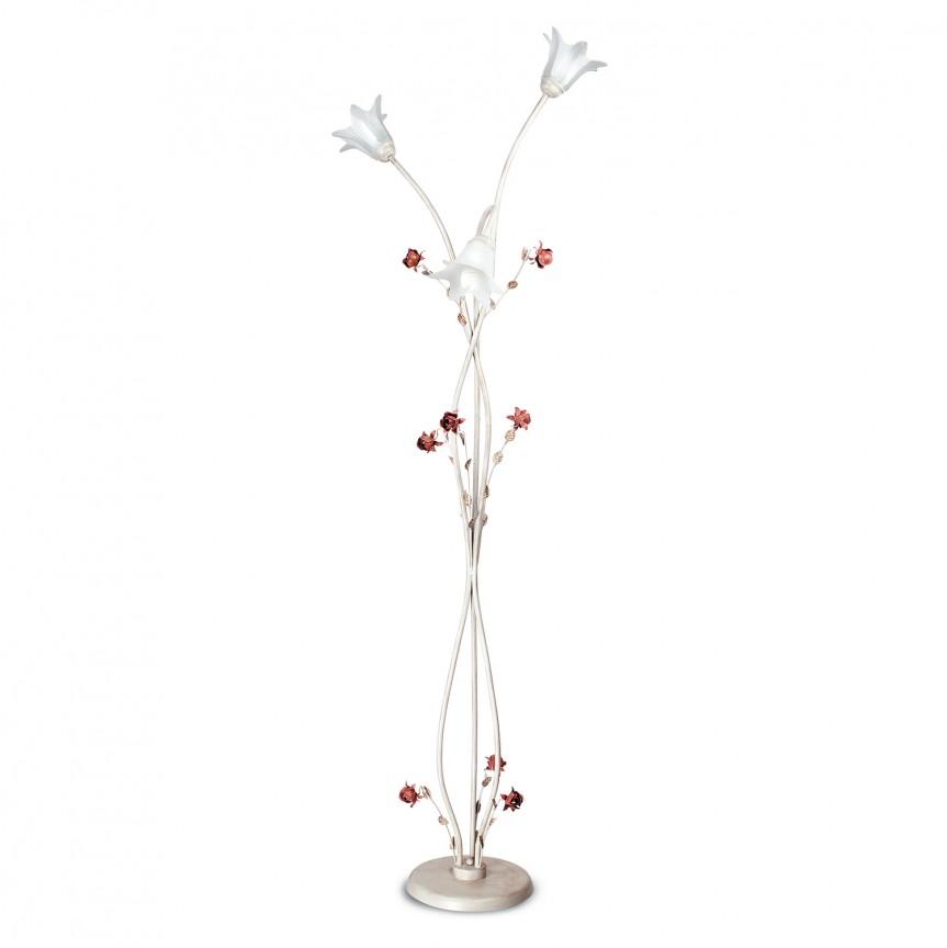 Lampadar elegant / Lampa de podea design clasic floral ROSE, Lampadare clasice, Corpuri de iluminat, lustre, aplice, veioze, lampadare, plafoniere. Mobilier si decoratiuni, oglinzi, scaune, fotolii. Oferte speciale iluminat interior si exterior. Livram in toata tara.  a