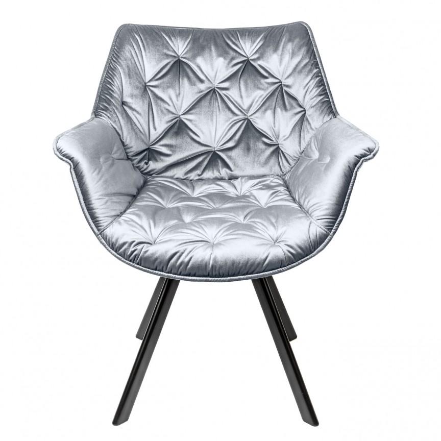 Set de 2 scaune design retro Dutch Comfort, catifea gri A-39176 VC, Seturi scaune dining, scaune HoReCa, Corpuri de iluminat, lustre, aplice, veioze, lampadare, plafoniere. Mobilier si decoratiuni, oglinzi, scaune, fotolii. Oferte speciale iluminat interior si exterior. Livram in toata tara.  a