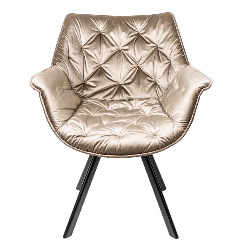 Set de 2 scaune design retro Dutch Comfort, catifea greige A-39177 VC, Seturi scaune dining, scaune HoReCa, Corpuri de iluminat, lustre, aplice, veioze, lampadare, plafoniere. Mobilier si decoratiuni, oglinzi, scaune, fotolii. Oferte speciale iluminat interior si exterior. Livram in toata tara.  a