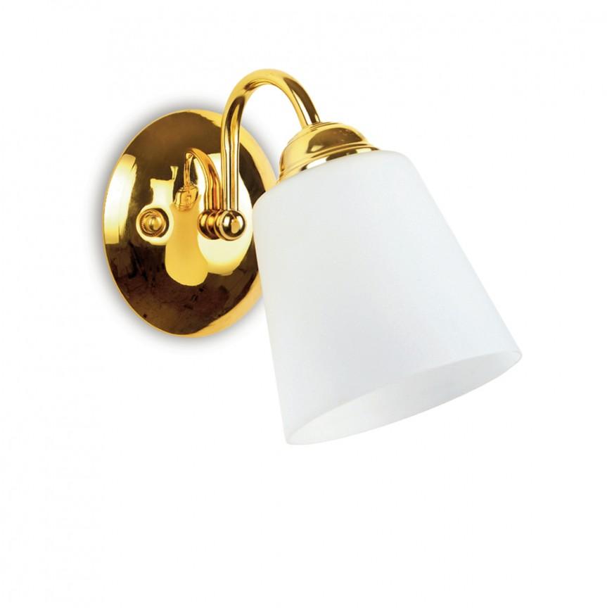 Aplica de perete stil clasic 1162 auriu/alb, Aplice de perete clasice, Corpuri de iluminat, lustre, aplice, veioze, lampadare, plafoniere. Mobilier si decoratiuni, oglinzi, scaune, fotolii. Oferte speciale iluminat interior si exterior. Livram in toata tara.  a
